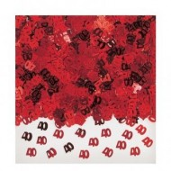 40th Red Ruby Anniversary / Birthday Table Confetti