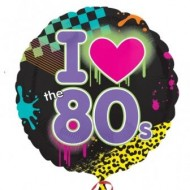 Totally 80s I Love 80s Balloon