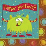 Alien Fun Birthday Napkins
