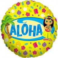 Aloha Hawaii Luau Island Party Balloon