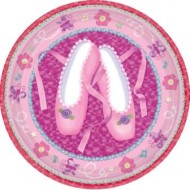 Twinkle Toes Ballerina Pink Party Plates