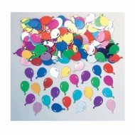 Balloon Swirls Birthday Table Confetti