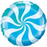 Blue Candy Swirl Willy Wonka Balloon