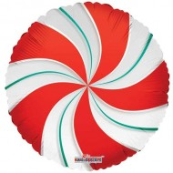 Red & Green Candy Clearview Balloon