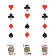 Casino Playing Cards Hanging Decorations