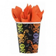 Chills and Thrills Halloween Paper Cups