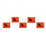 Creepy Witch Halloween Pennant Bunting