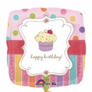 Cupcake Happy Birthday Balloon