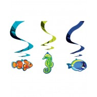 Deep Sea Tropical Fish Luau Island Party Swirls