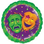 Mardi Gras Comedy & Tragedy Drama Masks Balloon