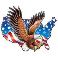 USA American Eagle 4th July Cutout