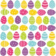 Easter Egg Decorative Cutouts x50