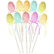 Easter Egg Food / Cake Picks x 10