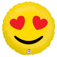 Emoji Love Eyes Face Balloon
