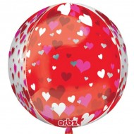 Floating Hearts Orbz Balloon