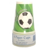 Football Soccer Fun Party Cups