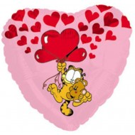 Garfield and Pooky Heart Balloon