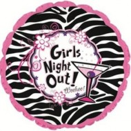 Girl's Night Out Hen Night Party Zebra Print Balloon