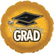 Congrats Grad Graduation Gold Balloon