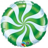Green Candy Swirl Willy Wonka Balloon