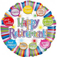 Happy Retirement Speech Bubble Balloon