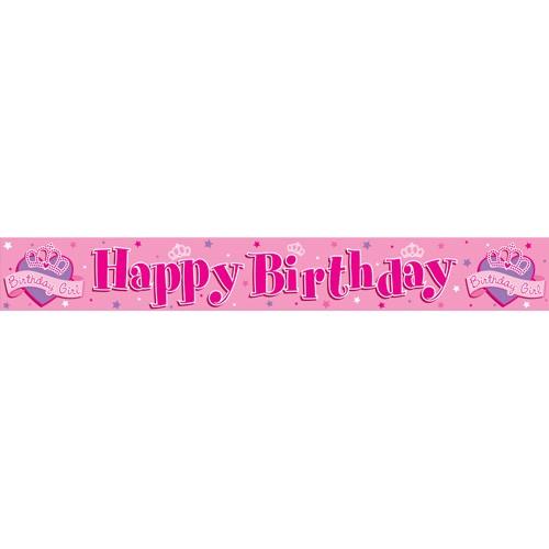 happy birthday girl princess banner