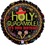 Holy Guacamole It's Your Birthday Mexican Balloon