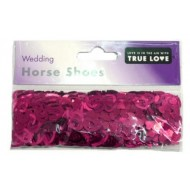 Burgundy Horse Shoe Wedding Table Confetti