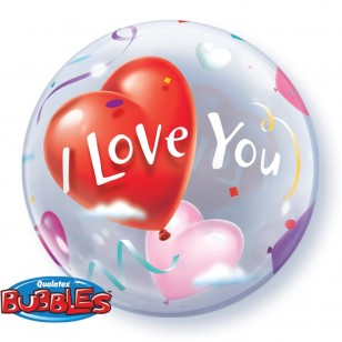 I Love You Hearts Bubble Balloon