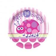 Ladybug Ladybird Happy 1st Birthday Party Plates