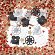 Hollywood Camera Lights Action Table Confetti