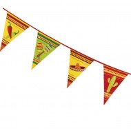 Mexican Chillis & Sombrero Flag Bunting
