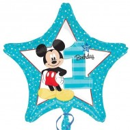 Disney Mickey Mouse 1st Birthday Star Balloon