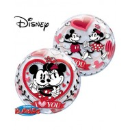 Mickey Mouse & Minnie Mouse in Love Bubble Balloon