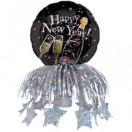 New Year Champagne Bubbles Bottle Topper