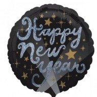 Happy New Year Elegant Sparkles Balloon
