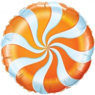 Orange Candy Swirl Willy Wonka Balloon