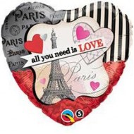 Paris All You Need Is Love Balloon