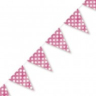 Pink Polka Dot Plastic Party Bunting