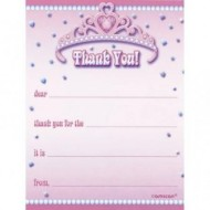 Princess Tiara Thank You Notes