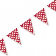 Red Polka Dot Plastic Party Bunting
