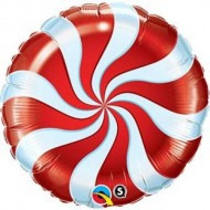 Red Candy Swirl Willy Wonka Balloon