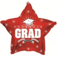 Congrats Grad Graduation Red Star Balloon