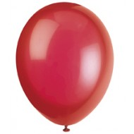 Scarlet Red Latex Balloons x10
