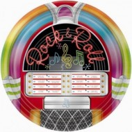 I Love Rock n Roll Jukebox Plates