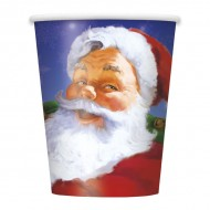 Holiday Santa Claus Christmas Paper Cups