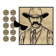 Pin The Badge on the Sheriff Cowboy Party Game