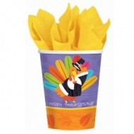 Happy Thanksgiving Fun Turkey Paper Cups