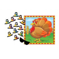Thanksgiving Pin the Hat on the Turkey Party Game