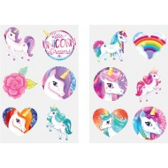 Magical Unicorn Party Favour Tattoo Sheets x 6